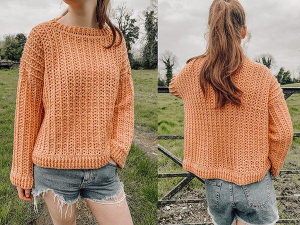 crochet Juniper Sweater free pattern