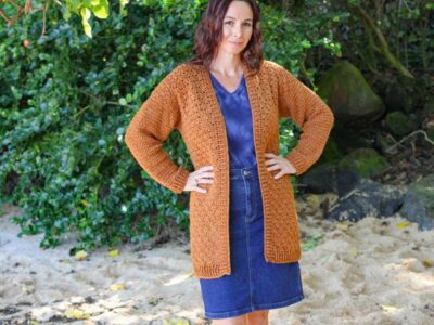 crochet LIBRARIAN CARDIGAN free pattern
