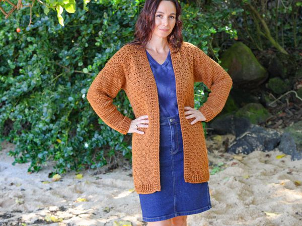 crochet LIBRARIAN CARDIGAN free pattern