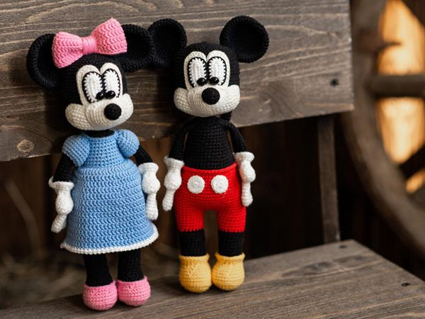 crochet Mickey and Minnie Mouse easy pattern
