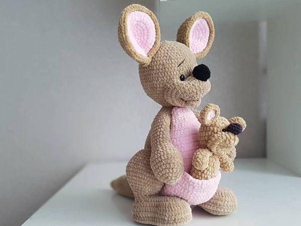 crochet Mother and Baby Kangaroo easy pattern
