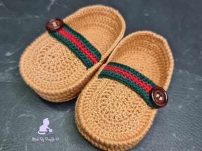 crochet My First Loafers free pattern