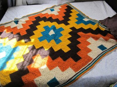 crochet On The Spot Throw free pattern