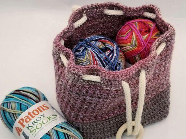 crochet Ring Rose Bag free pattern
