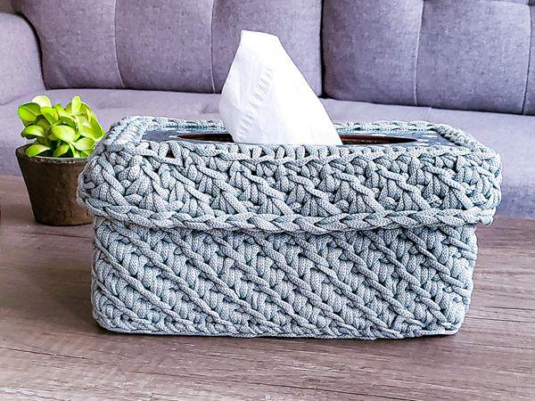 crochet Ripples Tissue Box free pattern