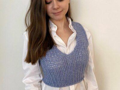 crochet Rivne Vest easy pattern