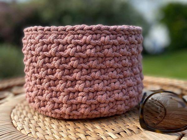 crochet Sea Urchin Basket easy pattern