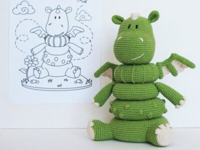 crochet Stacking toy Dragon easy pattern