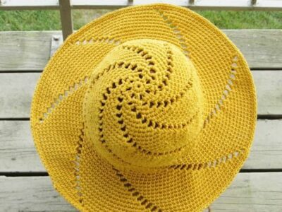 crochet Sunsational Sun Hat free pattern