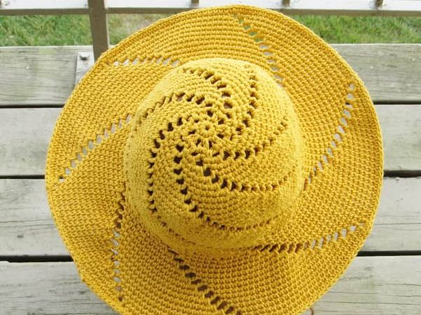 crochet Sunsational Sun Hat free pattern