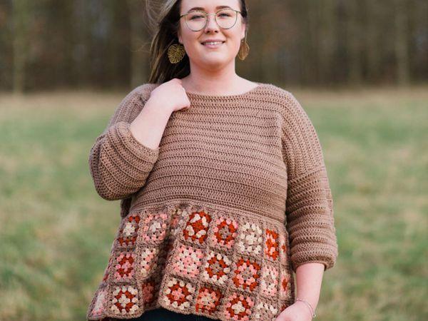 crochet Sylvia Jumper easy pattern