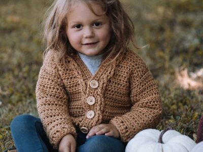 crochet Toddler Grandpa Sweater free pattern
