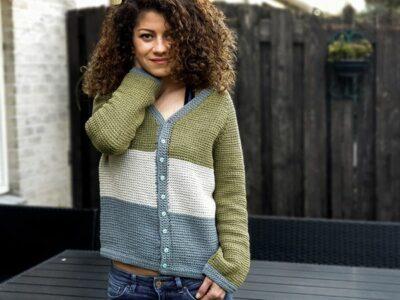 crochet Tunisian Raglan Blouse free pattern