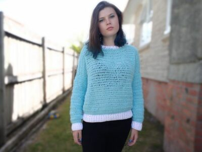 crochet Vienna Sweater free pattern