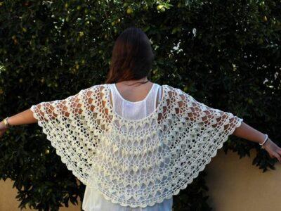 crochet Wedding Cape Capelet easy pattern