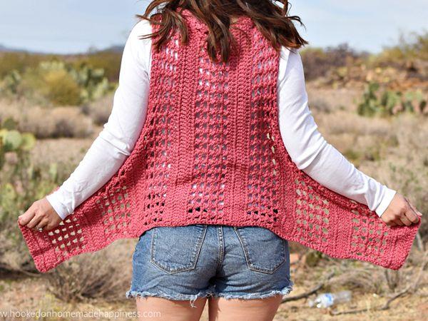 XOXO Summer Crochet Vest free pattern