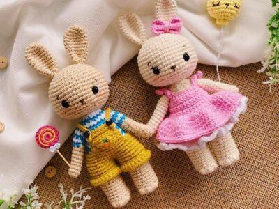 crochet Alice and Alex Bunny easy pattern