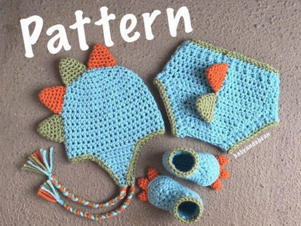 crochet Baby Dinosaur Outfit free pattern