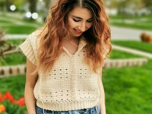 crochet Bayswater Top free pattern