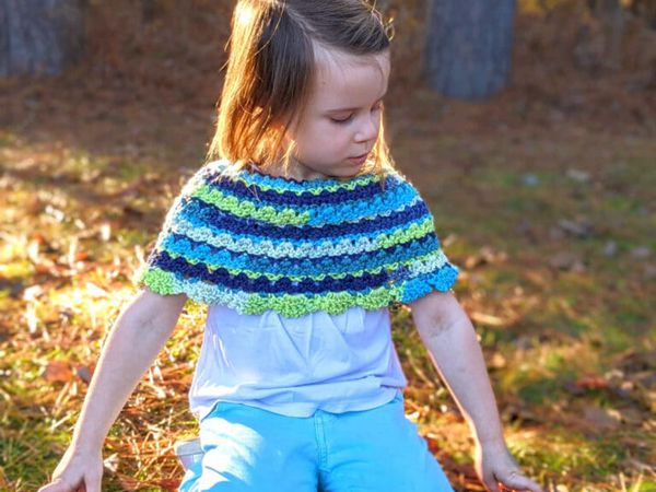crochet Brooke Poncho free pattern