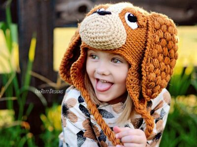 crochet CoCo the Spaniel Puppy Dog Hat easy pattern
