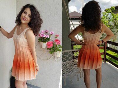 crochet Elegant Dress for Summer free pattern