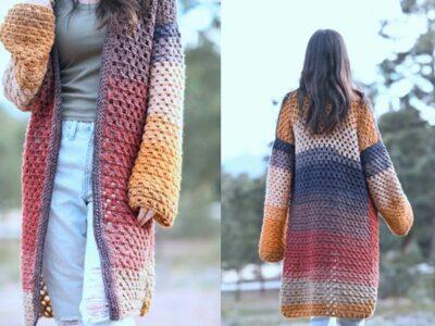 crochet Endless Eyelets Cardi free pattern