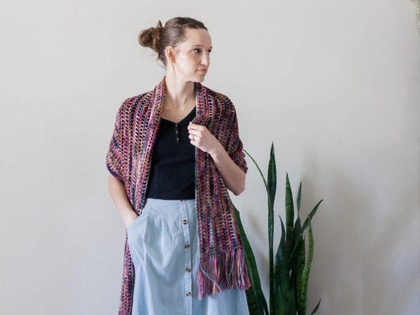 crochet Gemstone Wrap free pattern