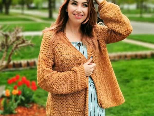 crochet Hayloft Cardigan free pattern