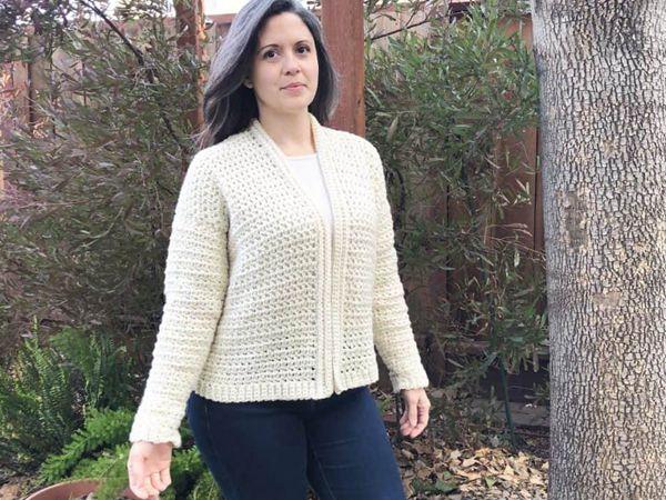 crochet Hygge Cardigan free pattern
