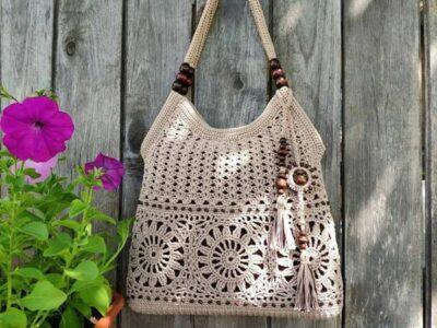 crochet Lace Motifs Boho Bag easy pattern
