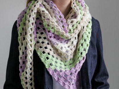 crochet Lavender Garden C2C Scarf free pattern