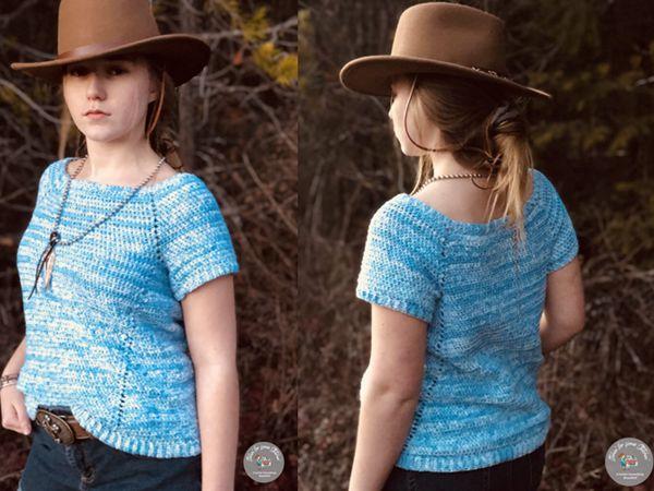 crochet PENELOPE RAGLAN TEE free pattern