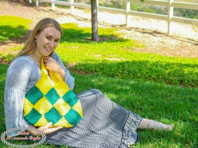 crochet Patchwork Diamond Bag free pattern