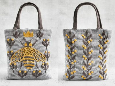 crochet Queen Bee Bag easy pattern