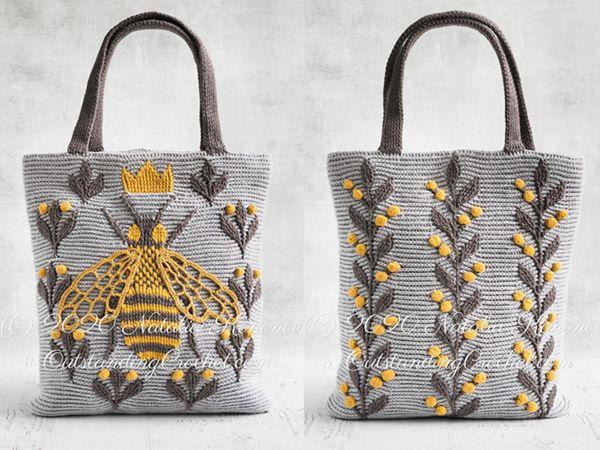 crochet Queen Bee Bag easy pattern