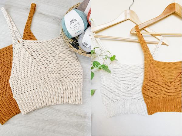 crochet SUMMER VIBES TOP free pattern