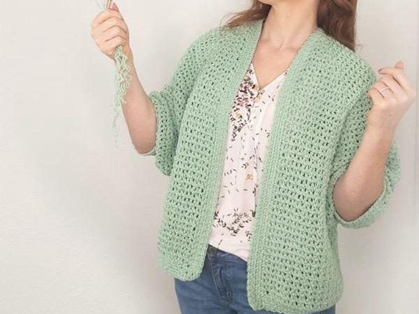 crochet Spring Raglan Cardigan free pattern