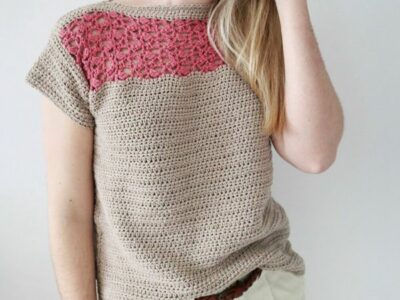 crochet Summer Haze Tee free pattern