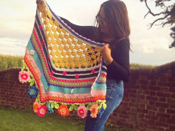 crochet Summer Love Shawl easy pattern