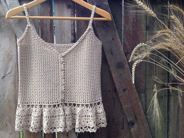 crochet Summertime Vintage Top easy pattern