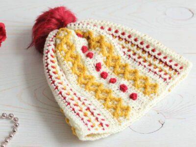 Textured Crochet Hat free pattern