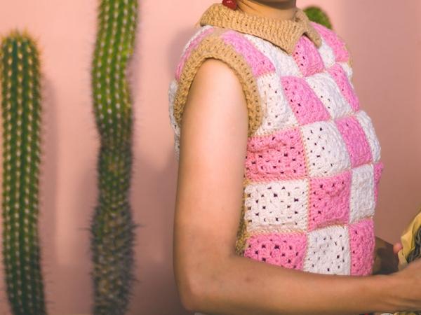 crochet The Aurora Vest easy pattern