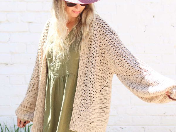 crochet The Mezzo Cardigan free pattern
