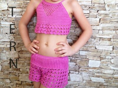crochet Toddler Vacation Top and Shorts easy pattern