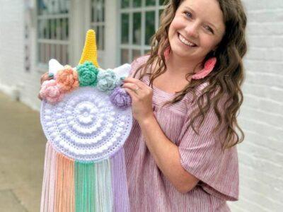 crochet Unicorn Wall Hanger easy pattern