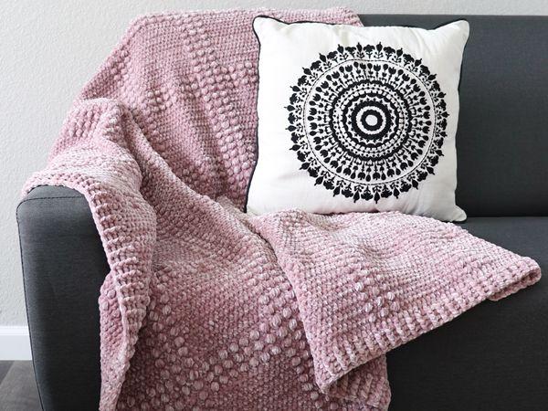 crochet Velvet Windowpane Throw free pattern