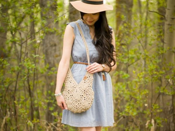 crochet Wildrose Shoulder Bag free pattern