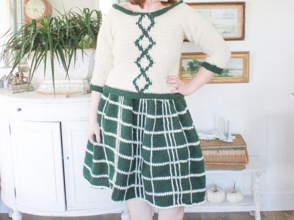 crochet Your Everyday Plaid Skirt free pattern
