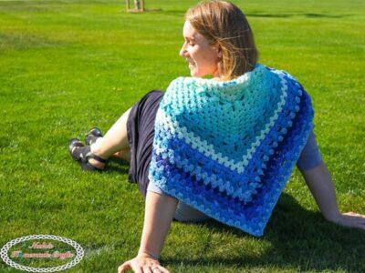 crochet BEAUTIFUL GRANNY SHAWL free pattern